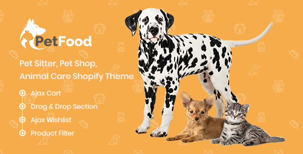 PetFood – Pet Sitter, Pet Shop, Animal Care Shopify Theme            TFx Thornton Fitz