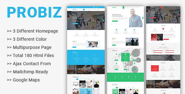 Probiz – Multipurpose Business Template            TFx Bysshe Kieron