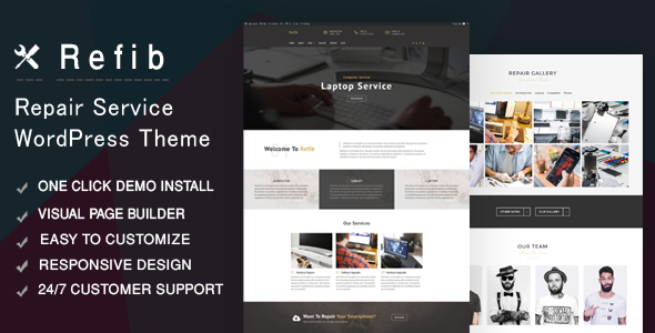 Refib - Digital Repair Service WordPress Theme            TFx Hector Buddha