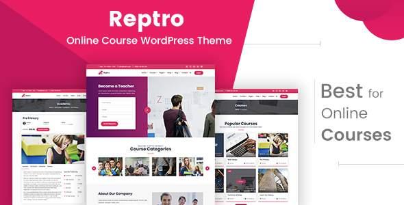 Reptro - Online Course WordPress Theme            TFx Josh Rafferty