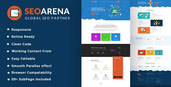 Seoarena - SEO /Digital Agency HTML5 Template            TFx Ashton Aleksandr