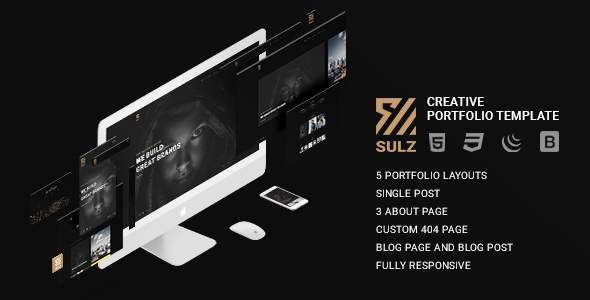 Sulz – Creative Portfolio Template            TFx Wayne Citlalli