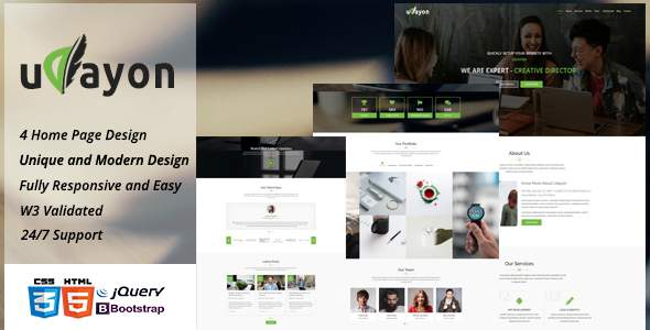 Udayon - Onepager Multipurpose Parallax Template            TFx Kolby Ozzie