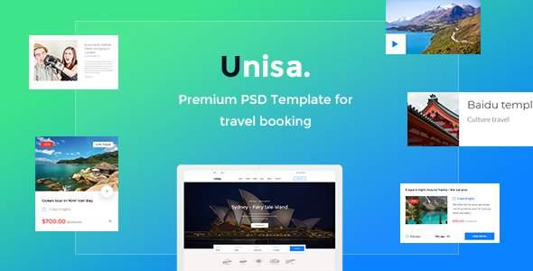 Unisa – Travel PSD Template            TFx Jessie Merv