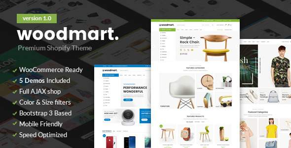 Woodmart - Responsive Shopify Template            TFx Gladwin Benedict