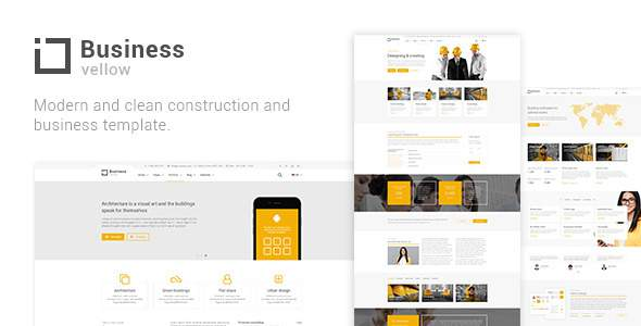 Yellow Business - Construction And Businesses Joomla Template            TFx Elwood Lee