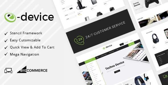 eDevice - Multipurpose Stencil BigCommerce Theme            TFx Kev Waman