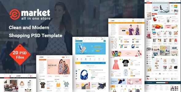 eMarket - Modern Multi-Purpose eCommerce PSD Template            TFx Eugene Glenn
