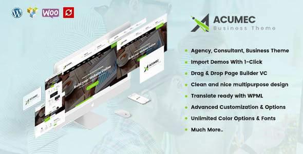 Acumec - Business Multipurpose WordPress Theme            TFx Ritchie Leon