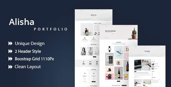 Alisha | Creative Portfolio PSD Template            TFx Kaolin Daichi