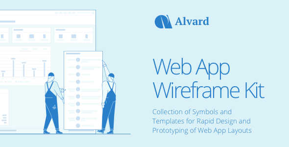 Alvard | Wireframe UI Kit - Collection of Symbols and Templates for Sketch            TFx Derick Damian