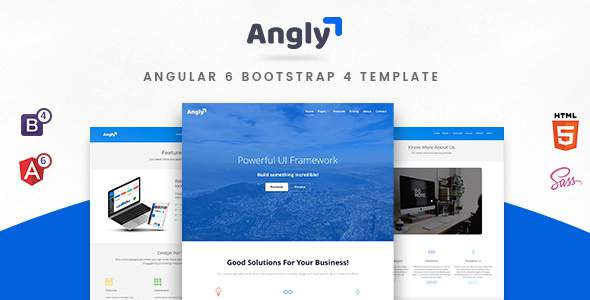 Angly - Angular 6 Bootstrap 4 Multipurpose  Template            TFx Kenny Haig