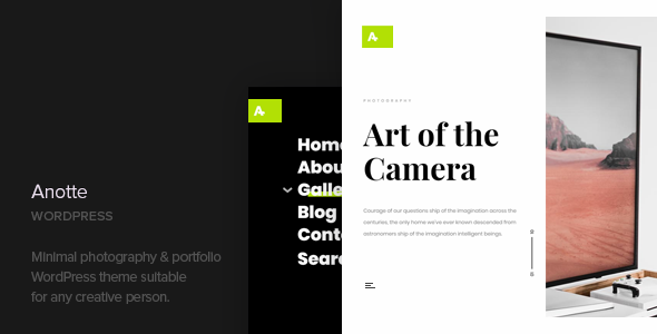 Anotte - Horizontal Photography WordPress Theme            TFx Goodwin Poghos