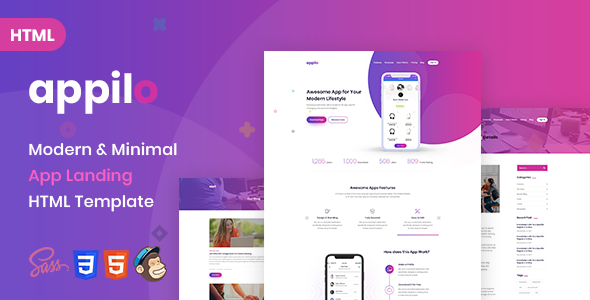 Appilo | App Landing Page            TFx Dean Jack