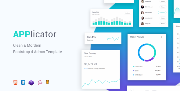 Applicator - Bootstrap 4 Admin Template            TFx Jarrett Anselm