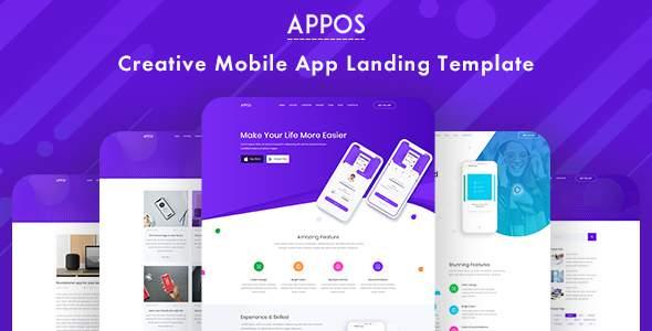 Appos Creative App Landing Template            TFx Kurtis Lucan