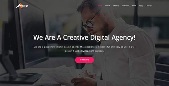 Arrow - Creative One Page Parallax            TFx Trafford Arif