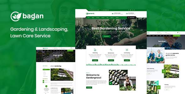 Bagan – Lawn & Garden Landscaping HTML Template            TFx Lee Shayne