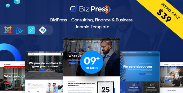 BiziPress - Consulting, Finance & Business Joomla Template            TFx Ryuu Clint