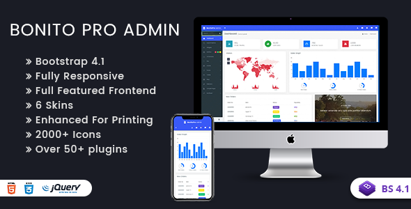 Bonito Pro - Bootstrap 4 Admin Templates & Web Apps Dashboards            TFx Milo Wenceslas