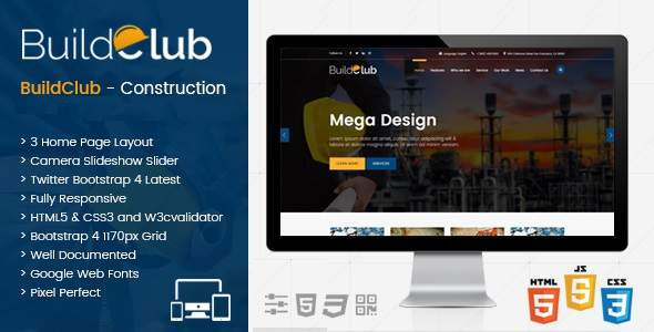 BuildClub – Architect and Construction Joomla Template            TFx Ferdinand Abe