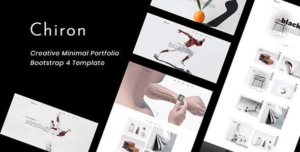Chiron – Creative Minimal Bootstrap 4 Portfolio Template            TFx Brandon Josh
