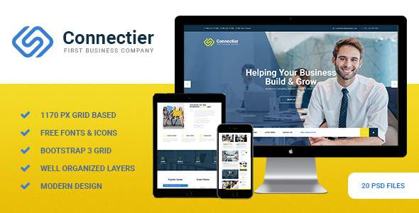 Connectier - Business PSD Template            TFx Tibby Aloysius