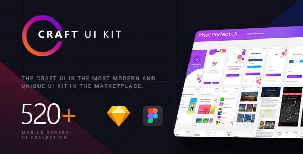 Craft | A Multipurpose and Multi Business Mobile UI Kit            TFx Denton Coleman
