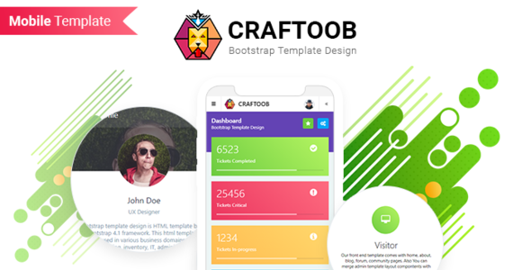 Craftoob | Mobile First Responsive HTML Template            TFx Cy Raeburn