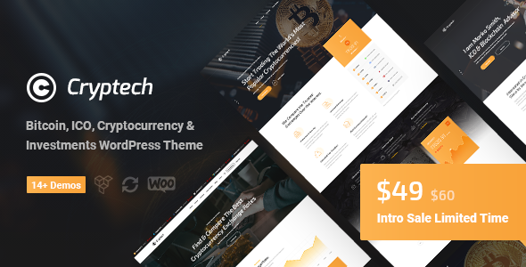 Cryptech - ICO and Cryptocurrency WordPress Theme            TFx Drogo Ohiyesa