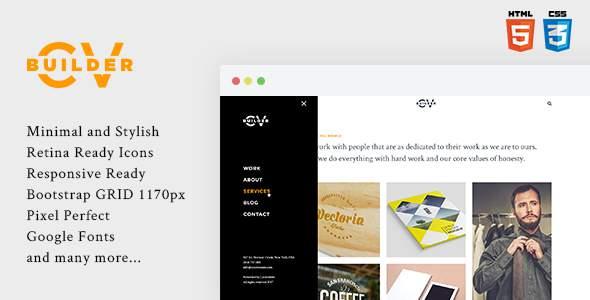 Cvbuilder – Creative Portfolio HTML5 Template            TFx Judd Hamilton