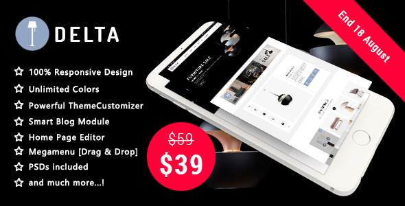 Delta - Creative Furniture and Decor Responsive Prestashop 1.7 Theme            TFx Ovid Swithin