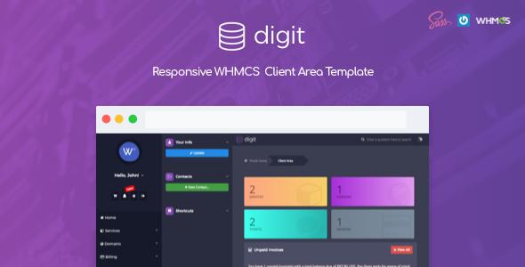 Digit - Responsive WHMCS Client Area Template            TFx Ernie Vinnie