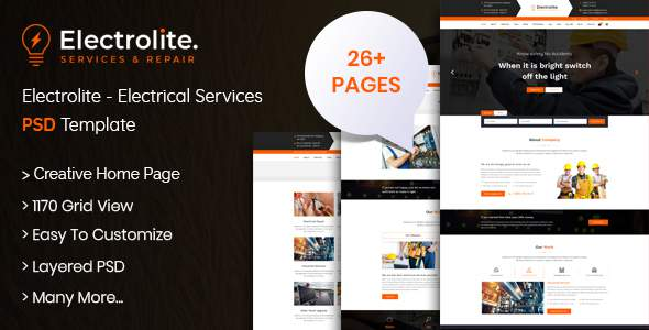 Electrolite - Electrical Services PSD Template            TFx Deven Lloyd
