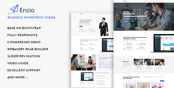 Enzio - Responsive Business WordPress Theme            TFx Georgie Tayler