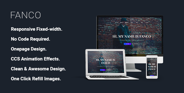 Fanco - CV Resume Personal Muse Template            TFx Gall Matty