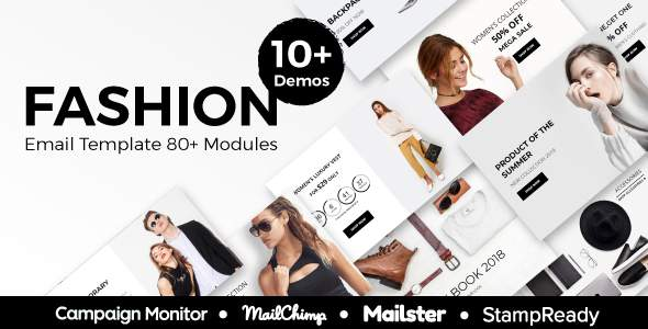 Fashion - Ecommerce Responsive Email Template With StampReady, Mailster, Mailchimp, Campaign Monitor            TFx Tim Bernie