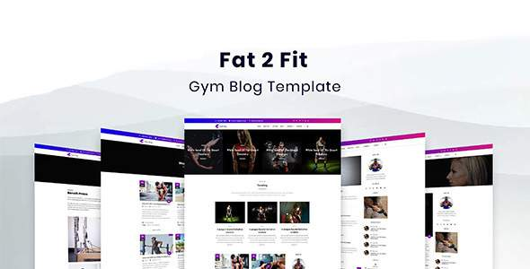 Fat2Fit — Fitness, Gym, Sport Blog HTML Template            TFx Bertie Warrick
