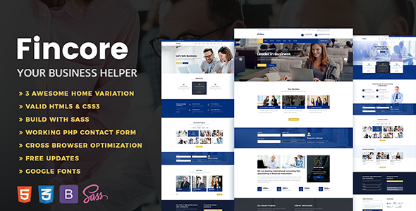 Fincore - Consulting Finance & Business Template            TFx Howard Gore