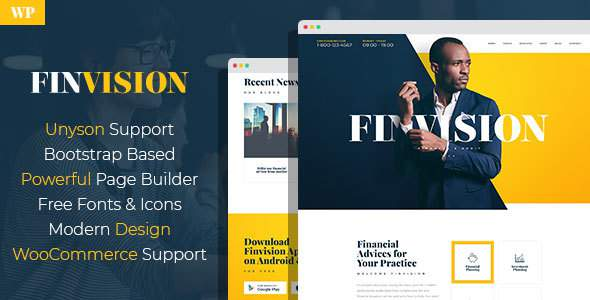 Finvision – Financial Audit And Consulting WordPress Theme            TFx Gage Collin