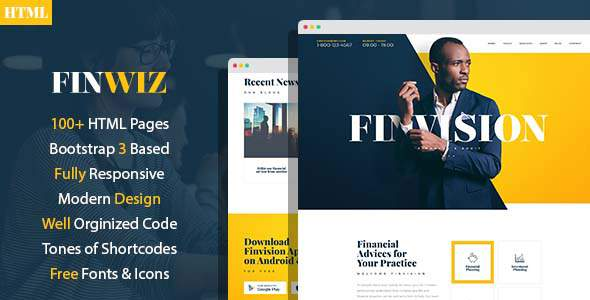 Finwiz - Fincacial and Auditing services HTML Template            TFx Gene Huey