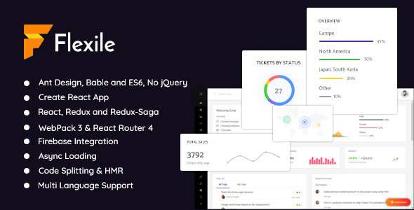 Flexile - React Redux Admin Template based on Ant Framework            TFx Clancy Isiah