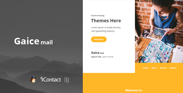 Gaice Mail - Responsive E-mail Template            TFx Bradley Kelcey