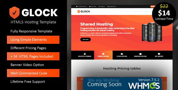 Glock-Responsive HTML5 Hosting Template            TFx Gerrard Jonty