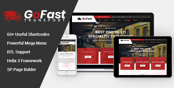 GoFast – Multipurpose Transport & Logistics Joomla Template            TFx Micah Leonard