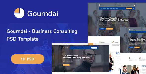 Gourndai - Business Consulting PSD Template            TFx Granville Hall