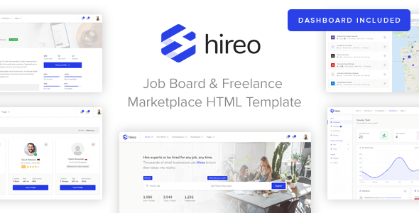 Hireo - Job Board & Freelance Services Marketplace HTML Template            TFx Spartacus Zane