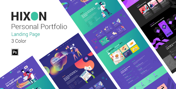 Hixon - Personal Portfolio Landing Page PSD Template            TFx Isi Claud