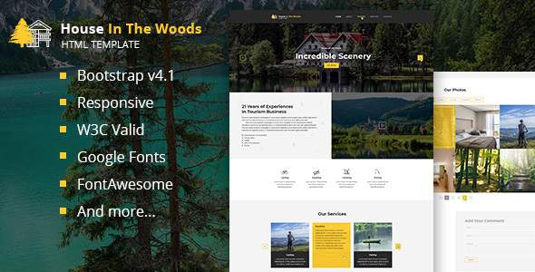 House In The Wood – Tourism and Entertainment HTML Template            TFx Alfie Ferdinand