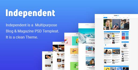 Independent - Multipurpose Blog & Magazine Theme            TFx Justy Richard
